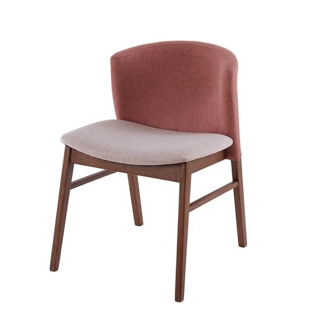 狄克曼餐椅 深木色 粉色(1P/2)Divo 50X60X74cm
