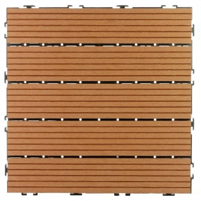 太陽神塑木止滑地板30X30咖啡