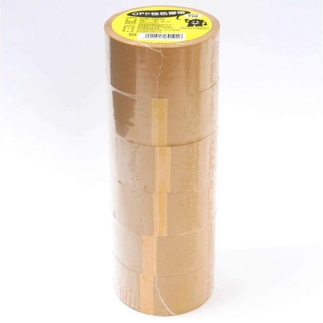 OPP棕色膠帶 6捲 48mmx70公尺