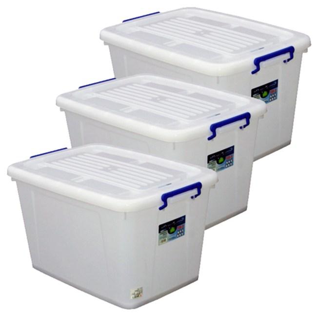 【收納屋】多用途『大容量』滑輪整理箱(85L/個) (三入/ 組)