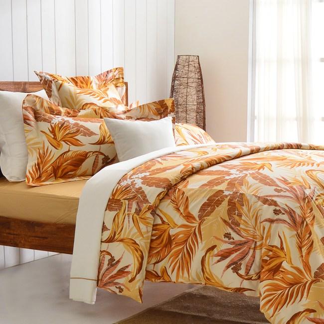 【Cozy inn】天堂-咖 300織精梳棉四件式兩用被床包組(加大)