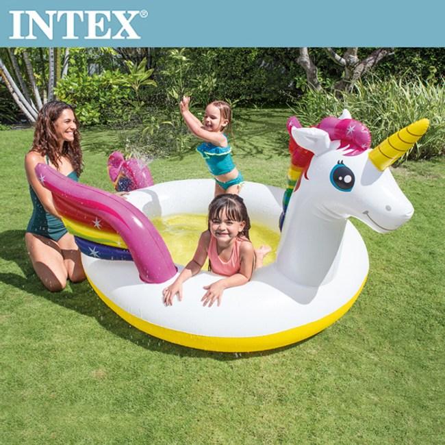 【INTEX】獨角獸噴水戲水游泳池(57441)