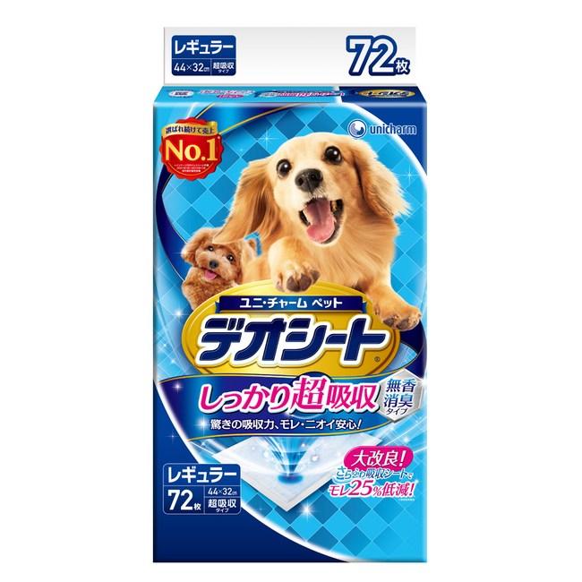 【日本Unicharm消臭大師】超吸收狗尿墊(M)(72片)