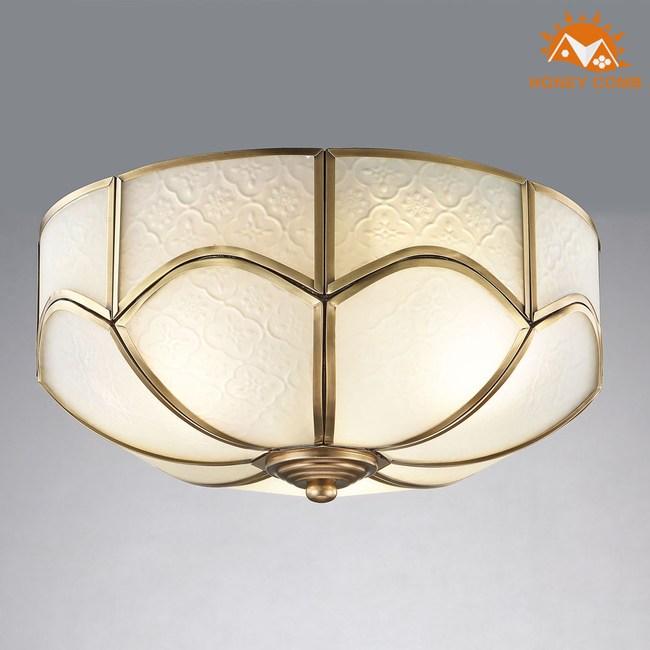 HONEY COMB 美式臥室銅製品吸頂三燈 EL-1672銅製品
