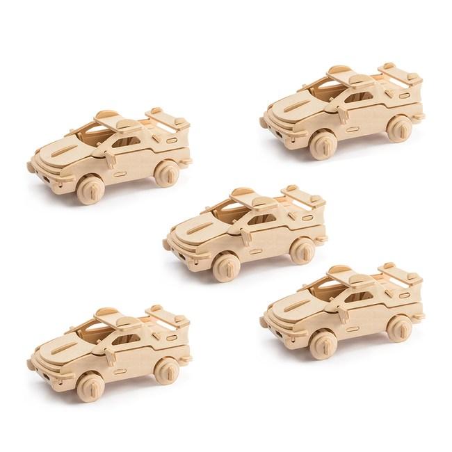 (組)DIY材料包-木質拼圖五件組-小小法拉利