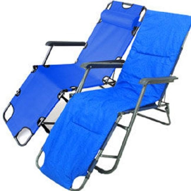 牛津布坐躺兩用休閒椅躺椅+舒適暖墊