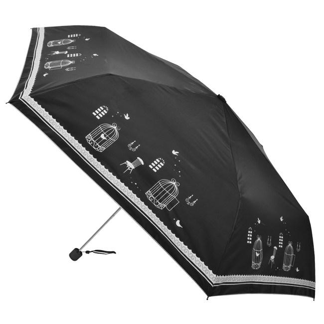 2mm 銀膠抗UV 鳥籠物語超細鉛筆傘_黑色