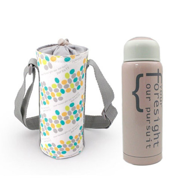 【I Do】304不鏽鋼真空保溫杯提袋組300ml-粉紅 CL-0030