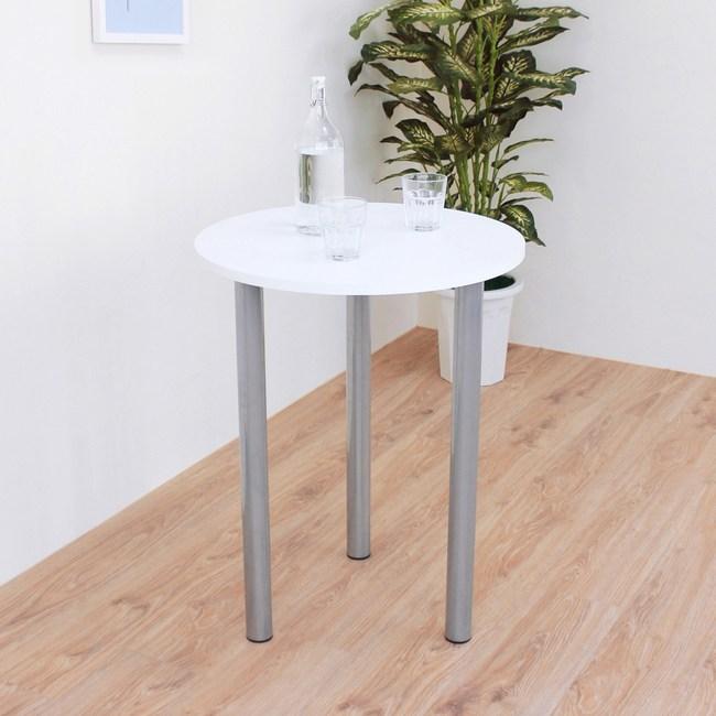 【頂堅】圓形餐桌/洽談桌/書桌/玄關桌-寬60x高75公分-二色可選素雅白色