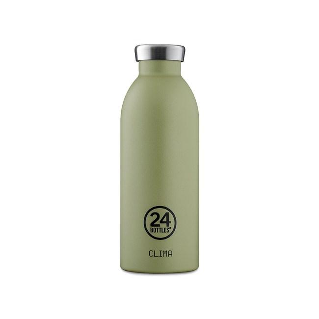 義大利 24Bottles 不鏽鋼雙層保溫瓶500ml - 橄欖綠