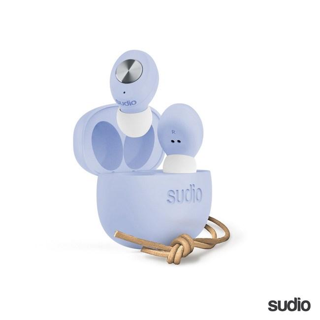 【Sudio】瑞典設計 真 無線藍牙耳機(Tolv / 粉藍)