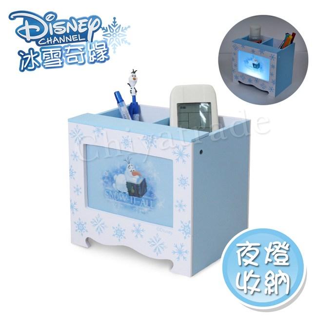 【迪士尼Disney】冰雪奇緣 雪寶 LED小夜燈收納盒 筆筒