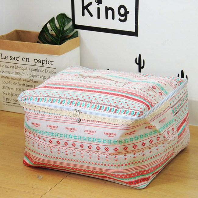 【收納職人】衣物棉被大容量防水防塵袋收納袋收納箱50L-手作風