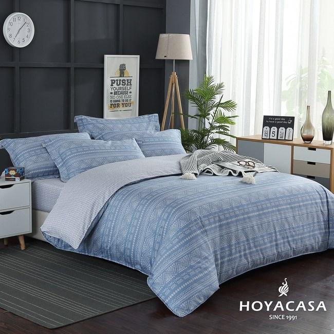 【HOYACASA-歐諾】雙人四件式300織抗菌精梳長絨棉兩用被床包組