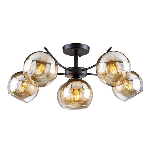 【大巨光】工業風5+1燈半吸頂燈-大(BM-20701)W800mmXH320mm