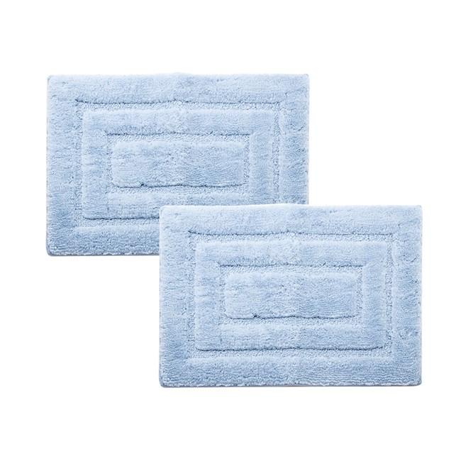 (組)超細纖維抗菌吸水踏墊40x60cm 藍 2入