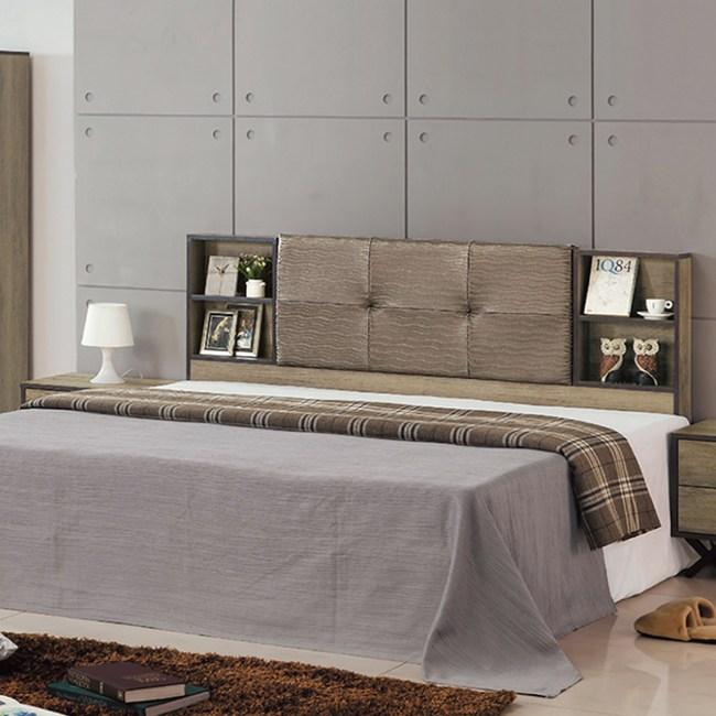 【YFS】亞當6尺仿古色床頭片-180x12x101cm