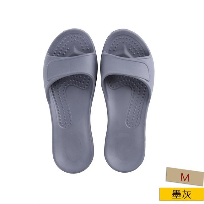 EVA柔軟室內拖鞋 墨灰M