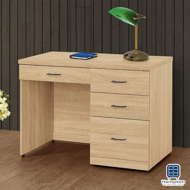 【Hampton 漢汀堡】娜塔莎原切橡木3.5尺書桌