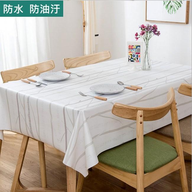 【媽媽咪呀】高級複合材質防水防油汙餐桌巾_冬之森_137*180cm1入