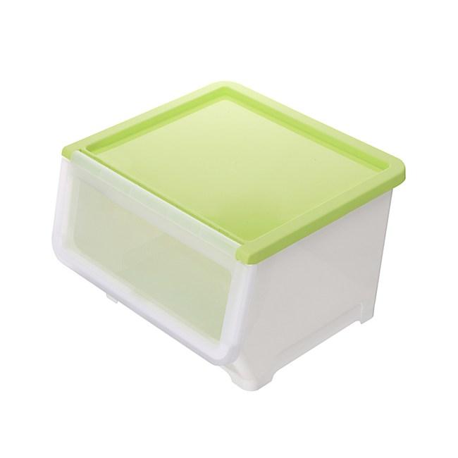 BQ607-3 漾彩直取式收納箱38L 綠