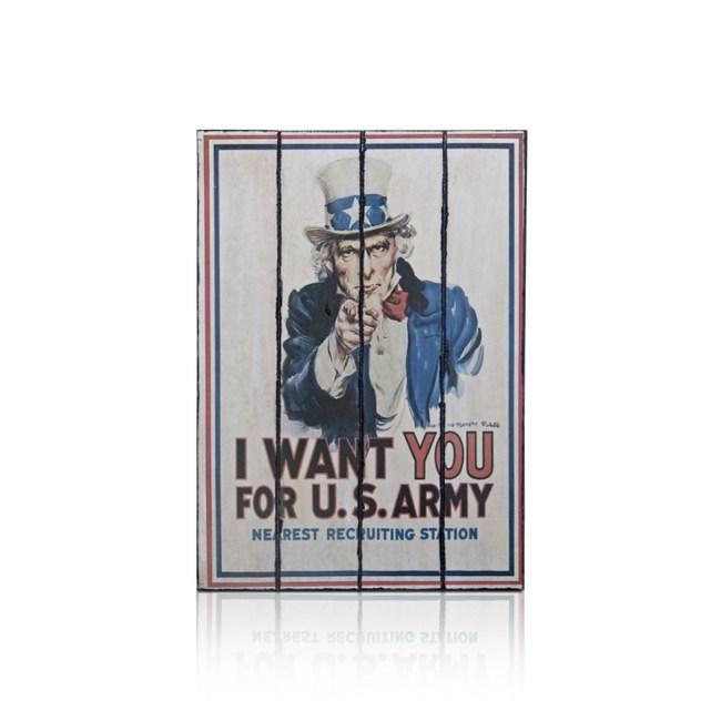 【ALMI】PERSON 60x100 木板畫(8款可選)I WANT YOU