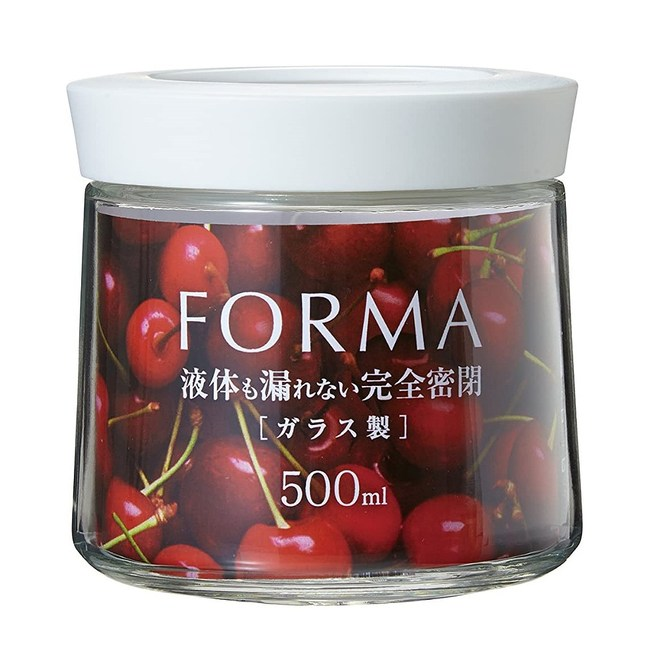 日本ASVEL新式樣罐蓋中空玻璃密封罐500ml(白色)