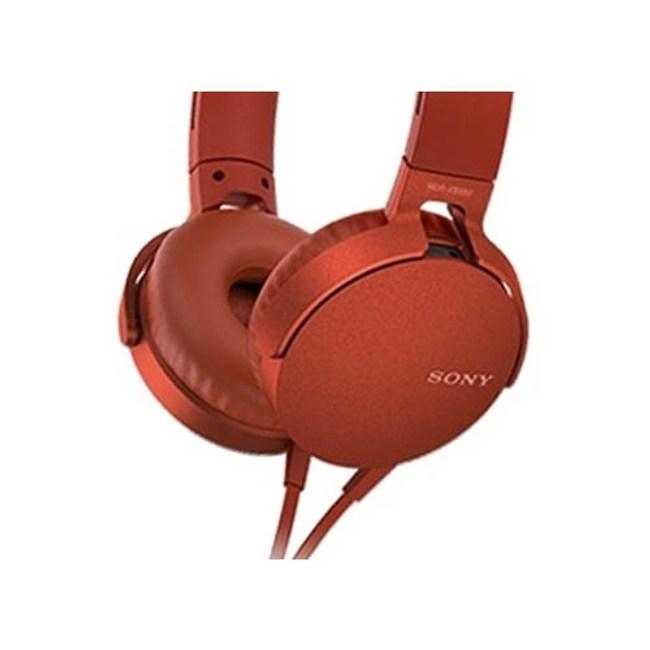 【送收納袋】SONY MDR-XB550AP 紅 EXTRA BASS耳罩式耳機