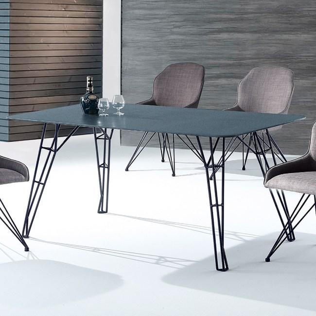 【YFS】安迪玻璃4.8尺餐桌-160x90x76cm