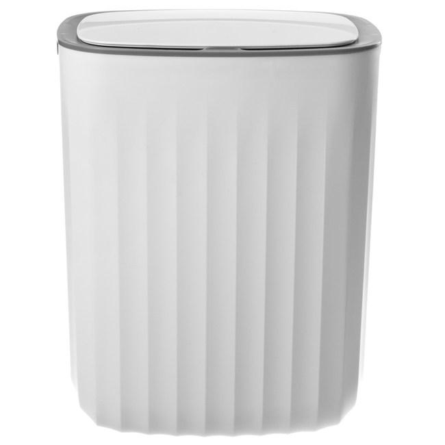 HomeZone 智能感應垃圾桶 10L 長方型 白色