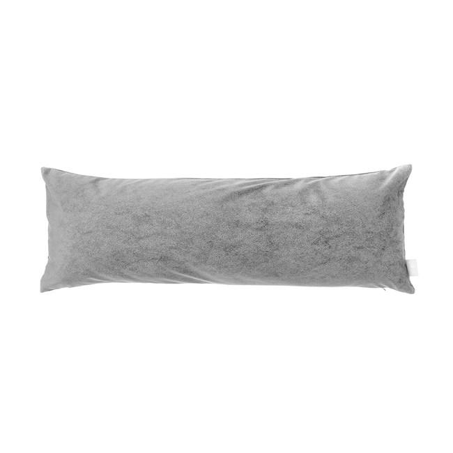 HOLA 素色星悅雙色長抱枕40x120cm 銀灰色