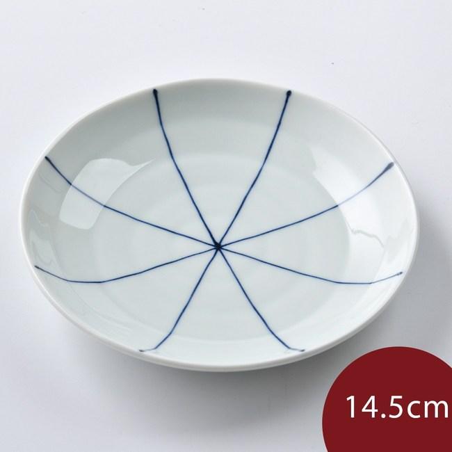 康創陶 和食器 前菜碟 藍線 14.5cm