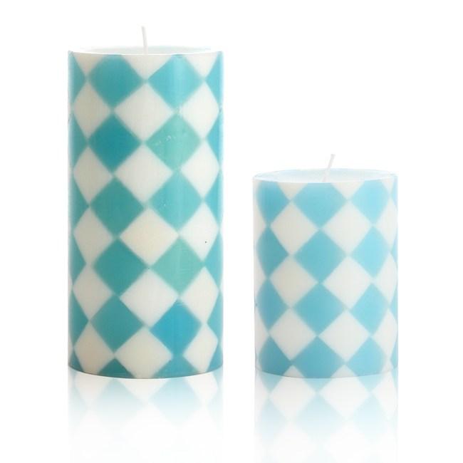 時尚菱格-海洋風香氛手工蠟燭組