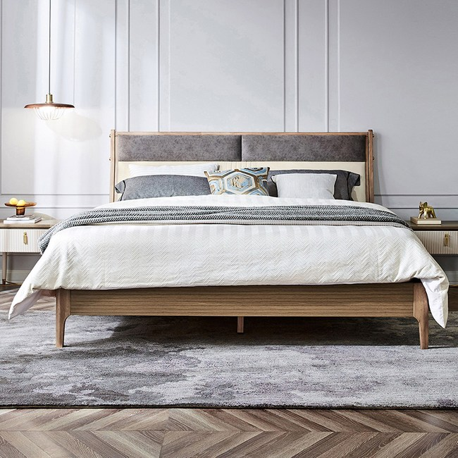 林氏木業時尚輕奢雙人5尺床組 GS1A