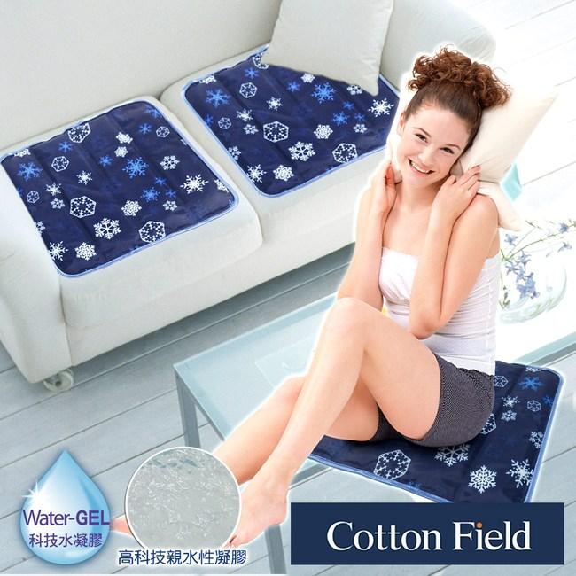 棉花田 極致酷涼冷凝坐墊-3款可選(45x45cm)冰晶花