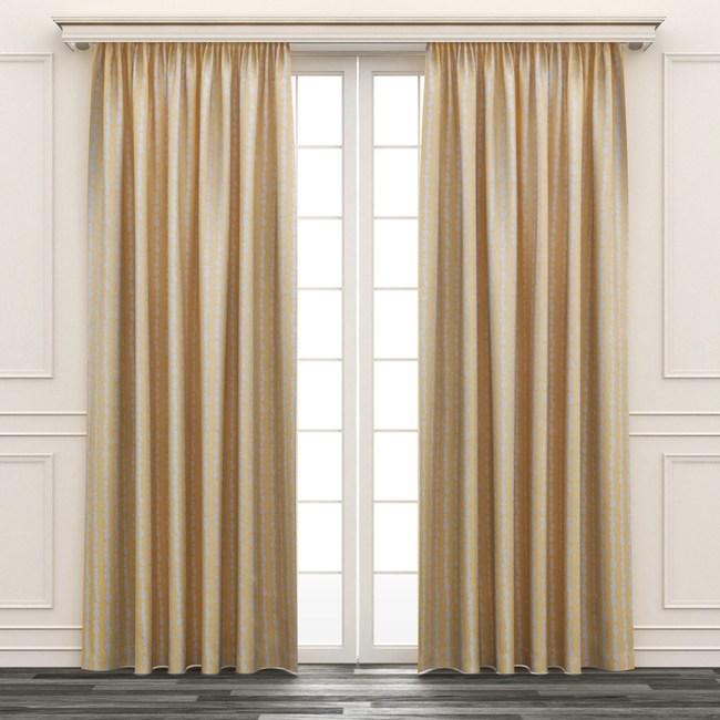 HOLA 點石印花三明治遮光落地窗簾 270x230cm 黃