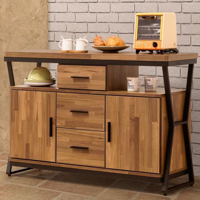 Homelike 肯納工業風4尺餐櫃