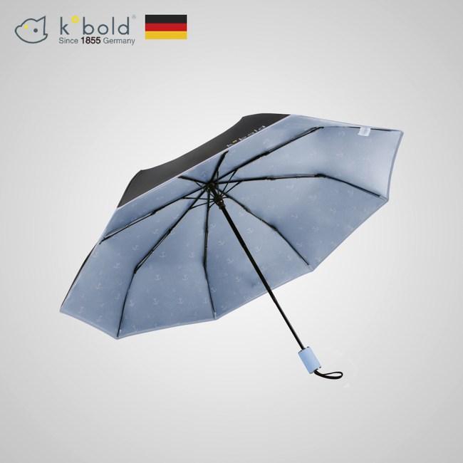 【德國kobold酷波德】抗UV旋轉芭蕾系列-隱藏傘珠-遮陽防曬三折傘-淺粉藍