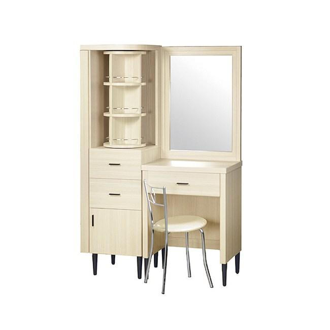 【YFS】布萊茲3.5尺雪松化妝桌椅組-104.5x40x162cm