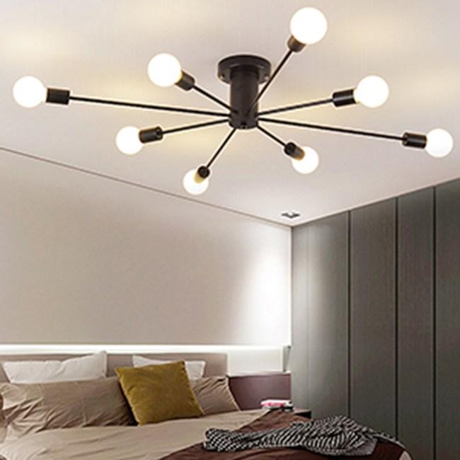 HONEY COMB 工業風高工藝吸頂燈 雙色款 8光源 黑色 TA8021