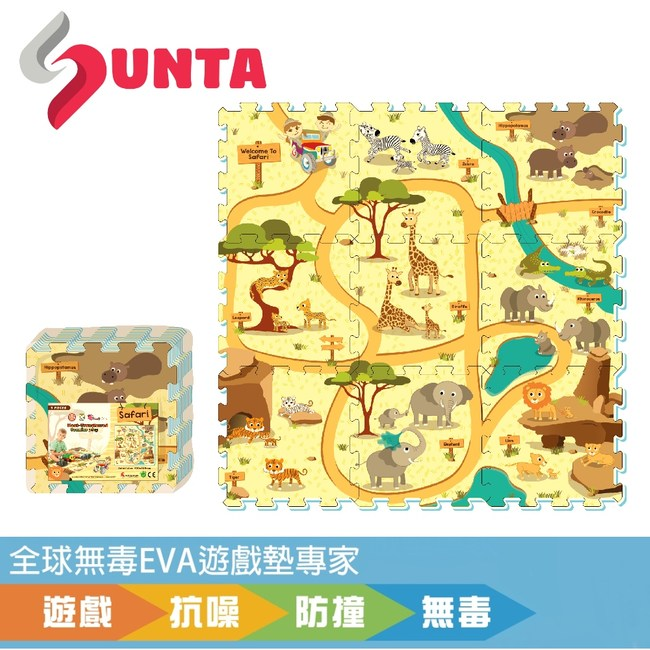 【SUNTA拼接EVA樂扣墊】動物樂園32*32*1cm(9片/組)