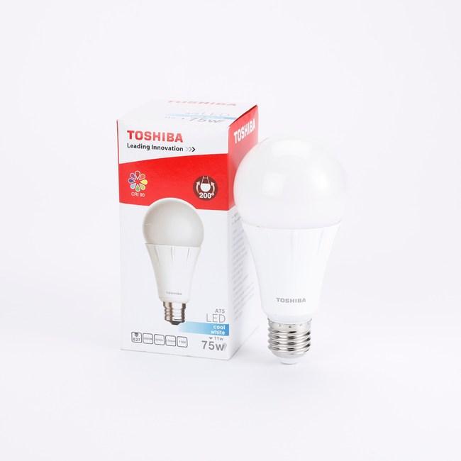 TOSHIBA 東芝照明 11W LED 一代 廣角球泡型燈泡 白光