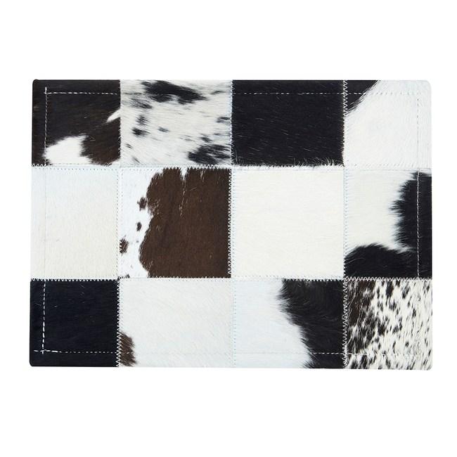 【Finara 費納拉】印象派黑白-巴西天然牛皮隔熱墊/餐墊