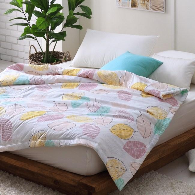 【Cozy inn】彩葉-200織精梳棉-涼被(6X7尺)