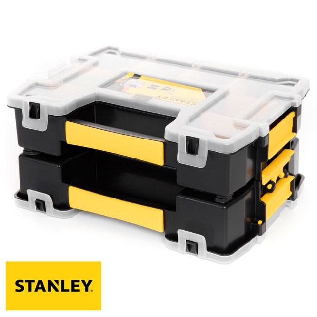 STANLEY 史丹利 手提可疊式收納盒 小型 2入 STST1-71197