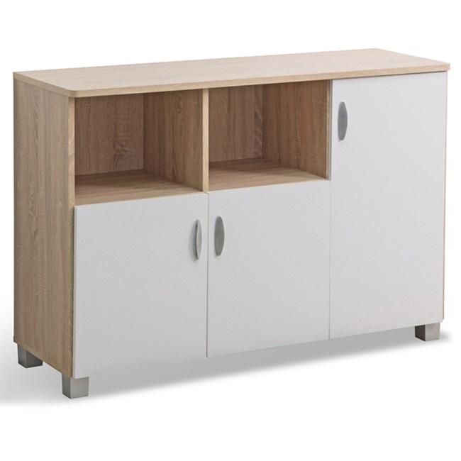米勒三門廚房櫃 (採E1板材) 40x118.9x81.5cm