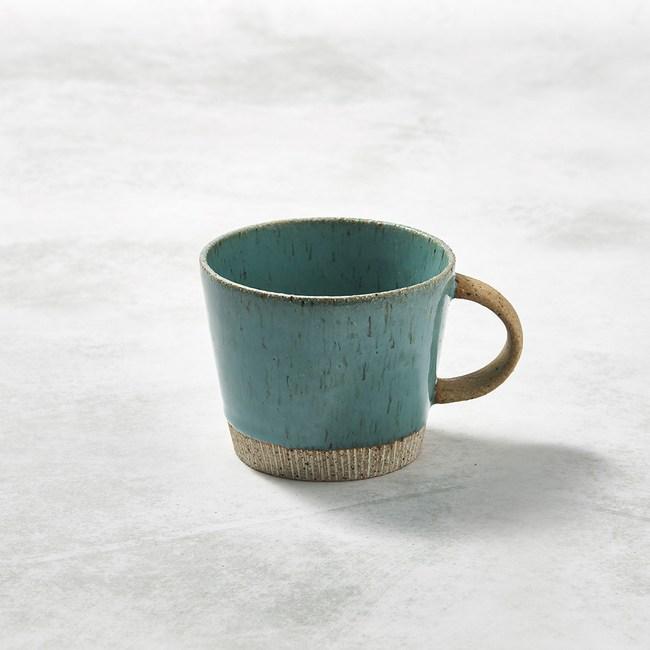 【有種創意】日本美濃燒 - 細刻紋馬克杯 - 天藍