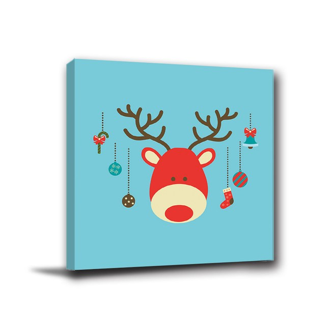 24mama掛畫-單聯式 無框畫 聖誕掛飾 40x40cm