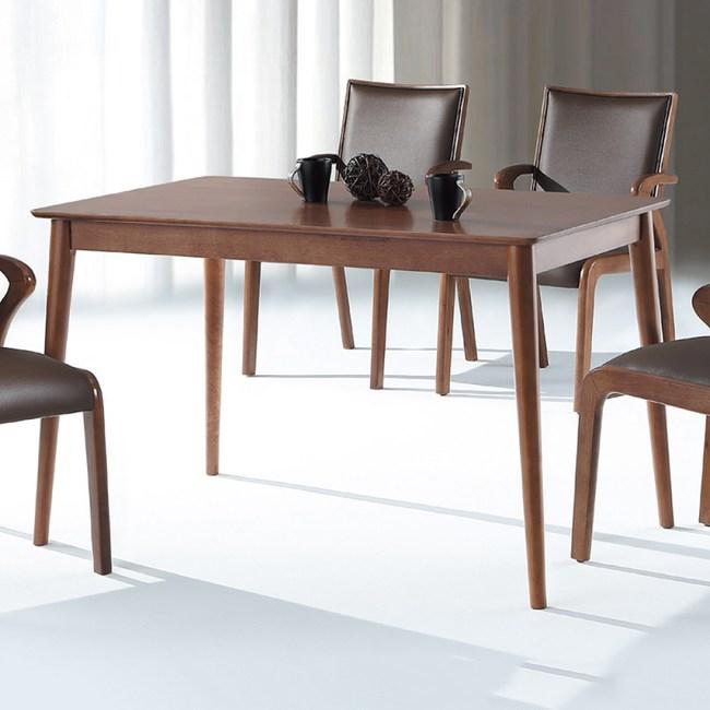 【YFS】班尼胡桃4尺餐桌-120x75x75cm