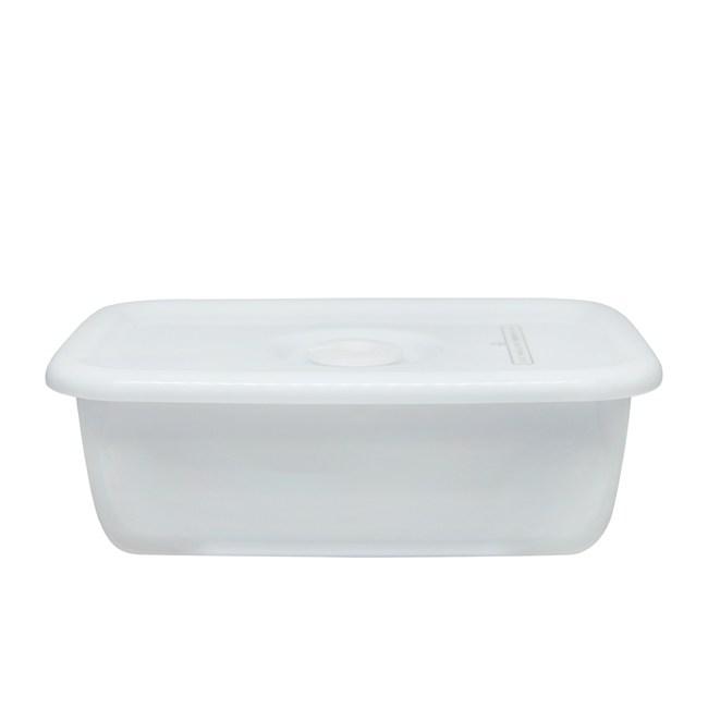 日本野田琺瑯 White Series長型密封盒(樹脂蓋.0.62L)